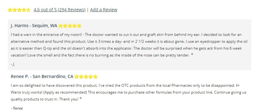H warts formula customer reviews